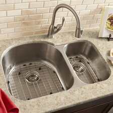 "31.2"" x 20"" Double Bowl 18 Gauge Kitchen Sink"