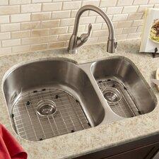"22"" x 12"" Double Bowl 16 Gauge Kitchen Sink"