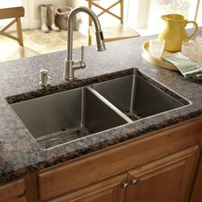 "32"" x 19"" Double Bowl Kitchen Sink"