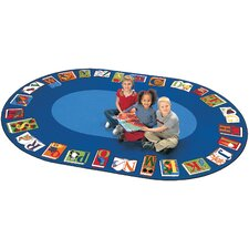 Literacy Reading by the Book Kids Area Rug