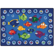 Literacy Fishing Kids Area Rug