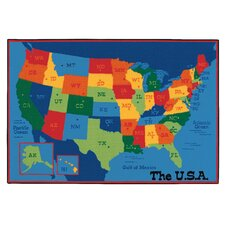 Value Plus USA Map Area Rug