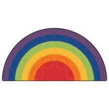 Printed Rainbow Rows Corner Area Rug