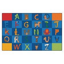 Literacy A to Z Animals Kids Rug