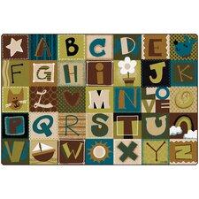 Toddler Alphabet Blocks Area Rug