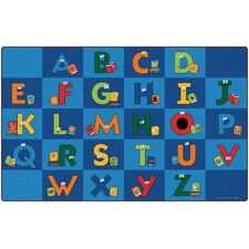 Reading Letters Library Kids Area Rug