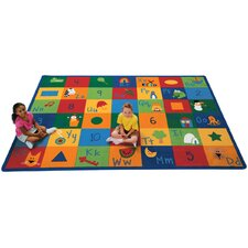Printed Learning Blocks Area Rug