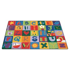 Toddler Alphabet Blocks Area Rug