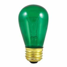 11W Transparent Green String Replacement Light Bulb (Set of 25)