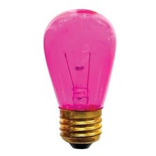 11W Transparent Pink String Replacement Light Bulb (Set of 25)
