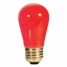 11W Transparent Red String Replacement Light Bulb (Set of 25)