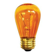 11W Transparent Amber String Replacement Light Bulb (Set of 25)