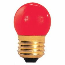 7.5W Red E26 Incandescent Light Bulb (Set of 25)