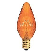 Candelabra Amber 130-Volt (2700K) Incandescent Light Bulb (Part of 8) (Set of 2)