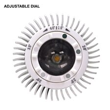2W Multi LED Bulb with Adjustable Beam Spread in Warm White