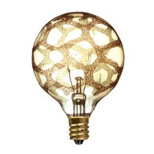 Crystal 40W Amber Marble Incandescent Light Bulb (Set of 4)