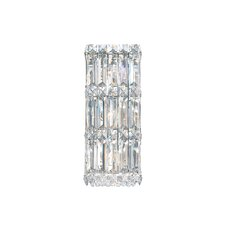 Quantum Three Light Wall Sconce in Polished Silver