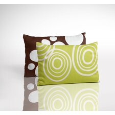 Organic Toddler 2-Sided Pillow - Puddle Lawn and Stepping Stone Bark