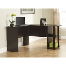 Computer Desk with 2 Shelves