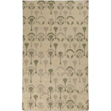 Voyages Beige/Lime Geometric Area Rug