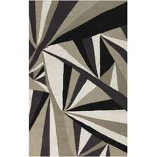 Voyages Light Gray Geometric Area Rug