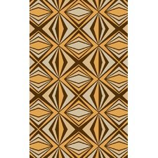 Voyages Beige/Gold Geometric Area Rug
