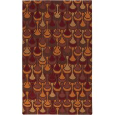 Voyages Cherry Geometric Area Rug
