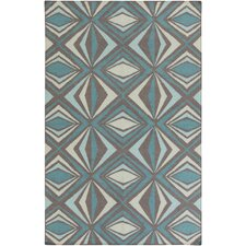 Voyages Sea Foam Geometric Area Rug