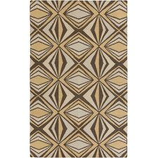 Voyages Brown Geometric Area Rug