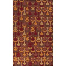 Voyages Cherry Geometric Rug