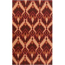 Voyages Cherry Ikat/Suzani Area Rug
