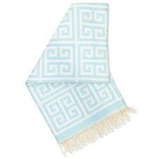Greek Key Baby Alpaca Wool Throw