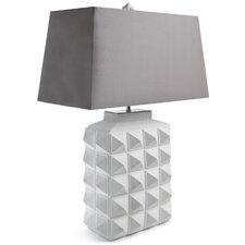 "Charade 23.4"" H Table Lamp with Rectangular Shade"