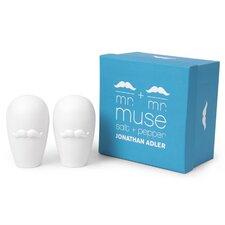 Mr. and Mr. Muse Salt & Pepper Shaker Set