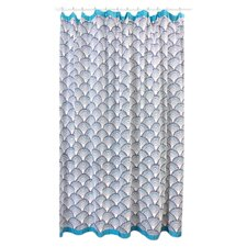 Fish Scales Cotton Shower Curtain