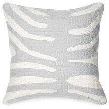 Pop Zebra Wool Throw Pillow
