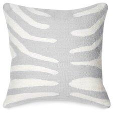 Pop Zebra Wool Throw Pillow