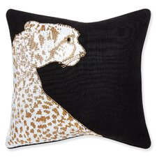 Animalia Beaded Leopard Linen Throw Pillow