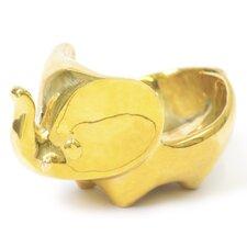 Brass Elephant Ring Holder