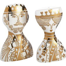 King and Queen Salt & Pepper Shakers Set