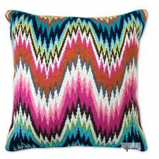 Bargello Worth Avenue Wool Throw Pillow