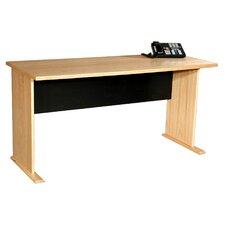 Modular Real Oak Wood Veneer Furniture Panel Desk Shell