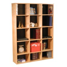 "Modular Real Oak Wood Veneer Furniture 65.5"" Cube Unit Bookcase"