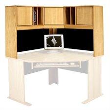 "Modular 36"" H x 48"" W Panel Corner Desk Hutch"