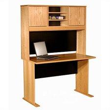 Modular Real Oak Wood Veneer Standard Desk Shell with Hutch