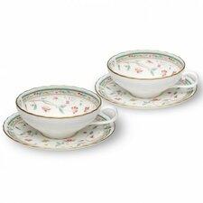 Hana Sarasa Tea Cup and Saucer (Set of 2)