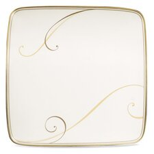 """Golden Wave 7.5"""" Small Square Accent Plate (Set of 4)"""