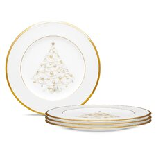 "Palace Christmas Gold 8.5"" Holiday Accent Plates (Set of 4)"