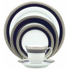 Crestwood Cobalt Platinum 20 Piece Dinnerware Set