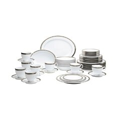 Austin Platinum 50 Piece Dinnerware Set